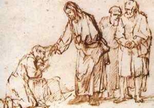 Jesus heals the leper--and the systems of oppression have no authority here, be they government or advertising.