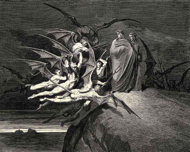 Gustave Dore, The Inferno, Canto 21